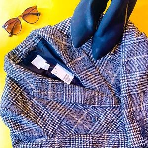 NWT▪H&M Houndstooth Peacoat ▪Size 16